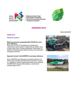 NOWOŚCI 2015 - Pol-Eco