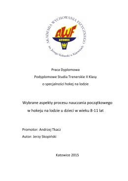 Praca dyplomowa - Jerzy Skopiński