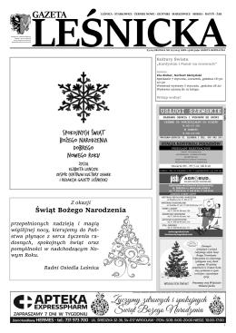 Gazeta Leśnicka, 23 grudnia 2015