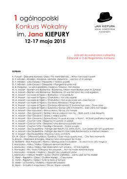 1 - I Ogólnopolski Konkurs Wokalny im. Jana Kiepury w Sosnowcu