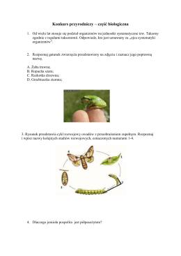 Konkurs przyrodniczy – część biologiczna