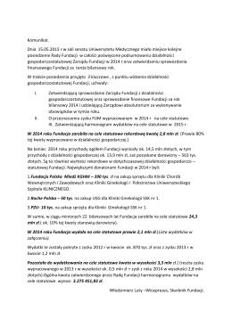 czytaj całość - Fundacja Uniwersytetu Medycznego we Wrocławiu
