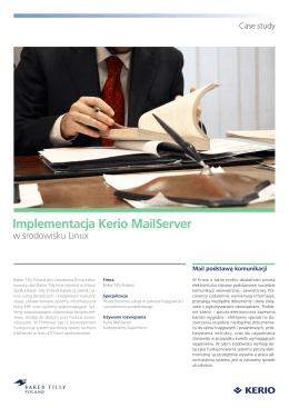 Implementacja Kerio MailServer