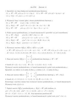 AlgTM Zestaw 11 1. Sprawdzić, czy dana funkcja jest
