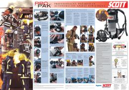 profesjonalny, pożarniczy autonomiczny aparat