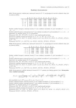 Zadania z rachunku prawdopodobieństwa, część 13 Rozkłady