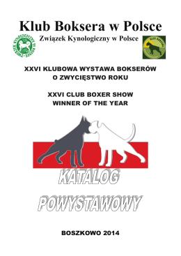 Katalog Powystawowy XXVI Klubowej Wystawy Bokserów o