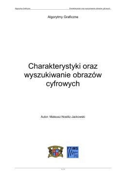 Charakterystyki oraz wyszukiwanie obrazów cyfrowych