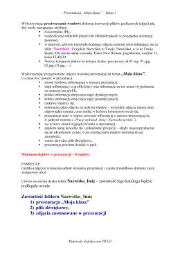 Wytyczne dotyczące przygotowania zdjęć i prezentacji