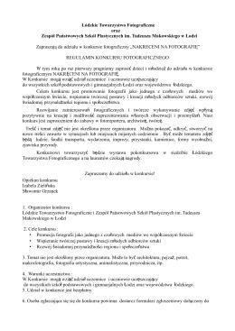 pobierz - Zespół Państwowych Szkół Plastycznych im. T