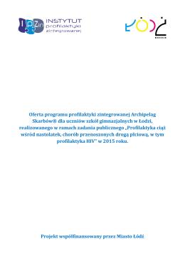 Oferta programu profilaktyki zintegrowanej Archipelag Skarbów