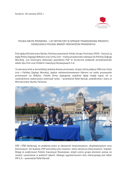 polska grupa promowa - Polskie Inwestycje Rozwojowe