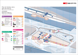Plan de l`interieur de la gare de Fribourg Innenplan Bahnhof