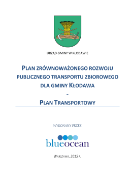 Plan zrównoważonego rozwoju publicznego