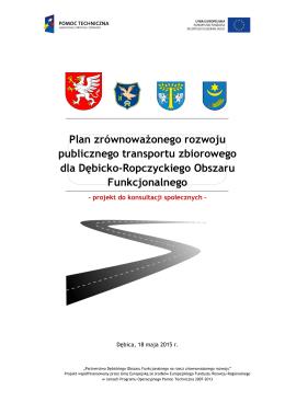 Plan Transportowy DROF - Urząd Miejski w Dębicy