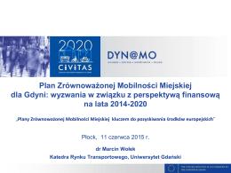 Plan Zrównoważonej Mobilności Miejskiej dla Gdyni