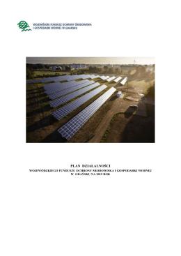 PLAN DZIAŁALNOŚCI - Wojewódzki Fundusz Ochrony Środowiska i