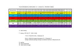 PLAN ORGANIZACJI SZKOLENIA 1.01 - 30.06.2015