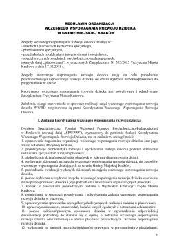 Regulamin WWRD Gminy Miejskiej Kraków