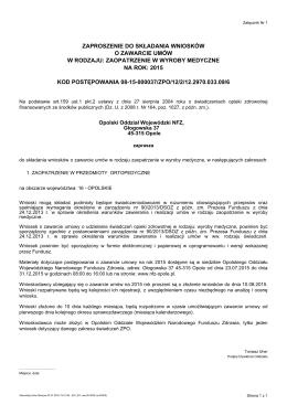 zaopatrzenie w wyroby medyczne na rok: 2015 kod postępowania 08