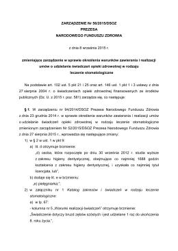 ZARZĄDZENIE Nr 56/2015/DSOZ PREZESA NARODOWEGO