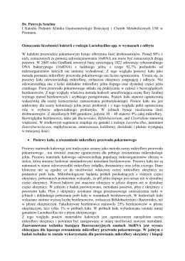 Oznaczanie liczebności bakterii z rodzaju Lactobacillus