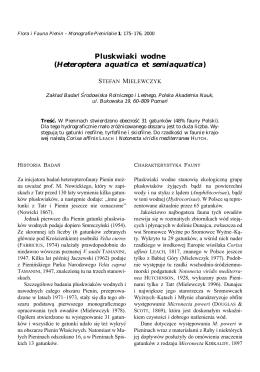 Pluskwiaki wodne (Heteroptera aquatica et semiaquatica)