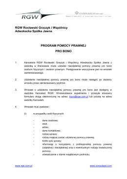 Program Pomocy Prawnej Pro Bono