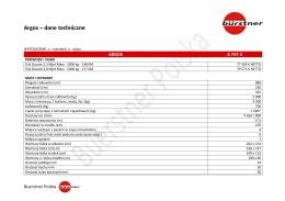 Argos – dane techniczne + wyposażenie