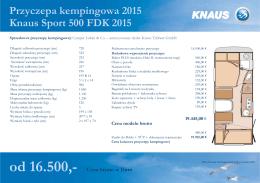 Metryka przyczepy kempingowej Knaus Sport 500