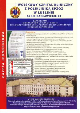 Informacje - I Wojskowy Szpital Kliniczny