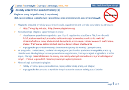 Zasady uczciwości akademickiej (1)