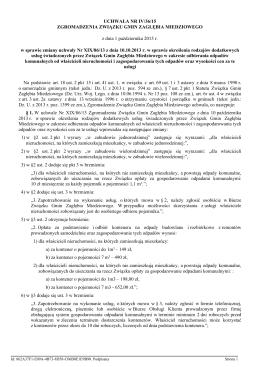 Uchwala Nr IV/36/15 z dnia 1 pazdziernika 2015 r.