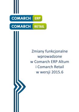Zmiany funkcjonalne Comarch ERP Altum