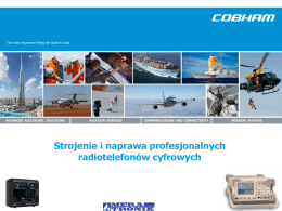 Strojenie i naprawa profesjonalnych radiotelefonów