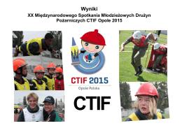 Wyniki - CTIF 2015