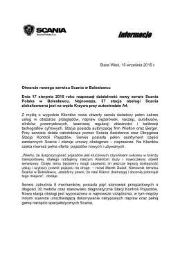 Otwarcie nowego serwisu Scania w Bolesławcu