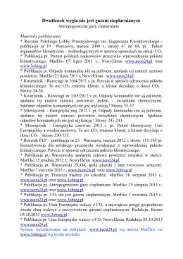 załączeniu spis publikacji na ww. temat