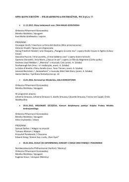 SPIS KONCERTÓW – FILHARMONIA/OSTROŻNIE, WCIĄGA !!!