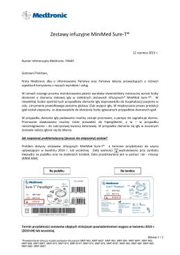 Zestawy infuzyjne MiniMed Sure-T®