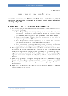 Opis przedmiotu zamówienia - Sąd Apelacyjny w Lublinie