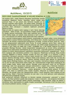 "MultiNews 10.2015 - Fundacja ""MultiOcalenie"""