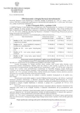 Obwieszczenie o drugiej licytacji nieruchomości ( 309 KB )