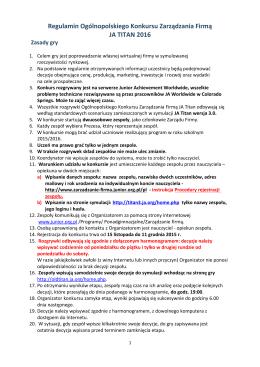 Regulamin Ogólnopolskiego Konkursu