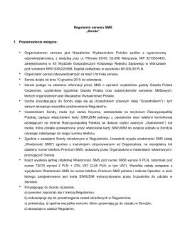 regulamin sms - Gazeta Polska Codziennie