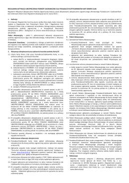 Regulamin Aktywacji Ubezpieczenia