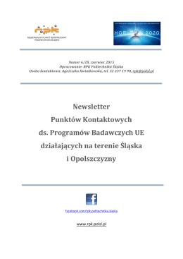 Newsletter Punktów Kontaktowych ds. Programów Badawczych UE