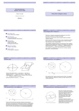 Astronomia sferyczna Wykład 8: RUCHY ZIEMI -