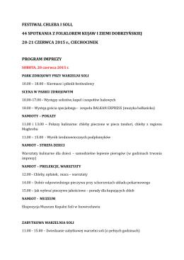 program imprezy - Festiwal Chleba i Soli