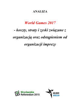 World Games 2017 Raport